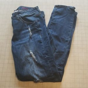 !iT Tiffany Skinny Ankle Distressed Jeans Size 12